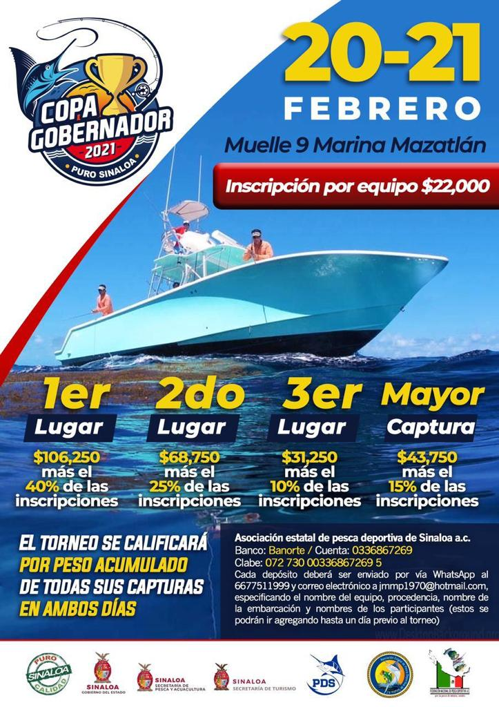 Mazatlan prepares for the 'Governor's Cup' 2021 fishing tournament